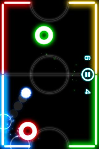 Glow Hockey Android App Screenshot