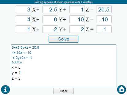 how to solve 3x3 matrix equation