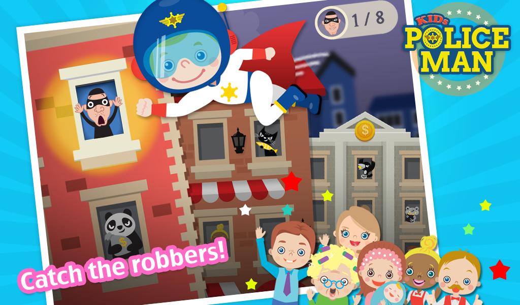Kids Policeman Free- screenshot