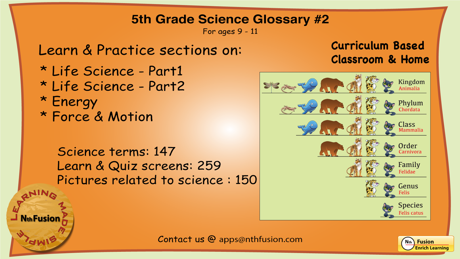 Workbooks vertebrates and invertebrates worksheets 5th grade : 5th Grade Science Glossary # 2 - Android Apps on Google Play
