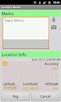 Screenshot of Location Memo