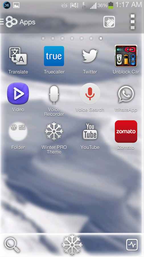 Winter Snow GO Apex Nova Theme - screenshot