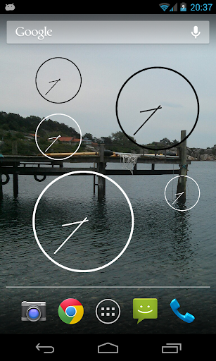 Resizable Analog Clock Widget