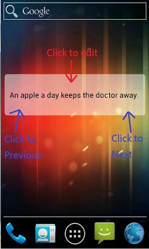 A Text Widget