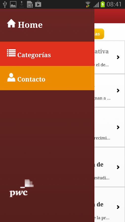 PwC VE: captura de pantalla