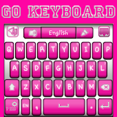 Go Keyboard Pink and White