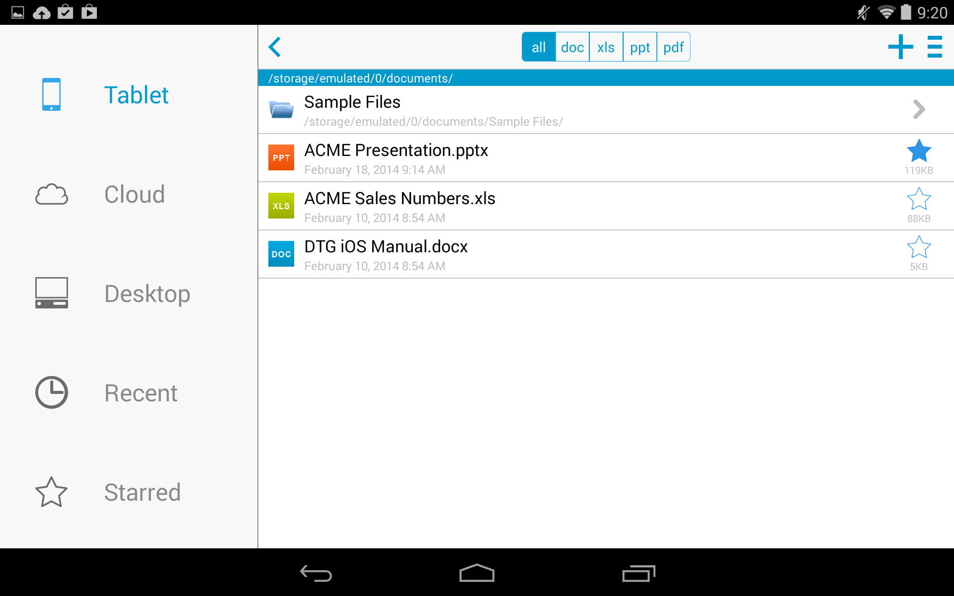 Docs To Go™ Free Office Suite screenshot #15