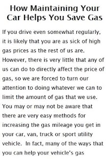 Saving gas tips and ideas - screenshot thumbnail