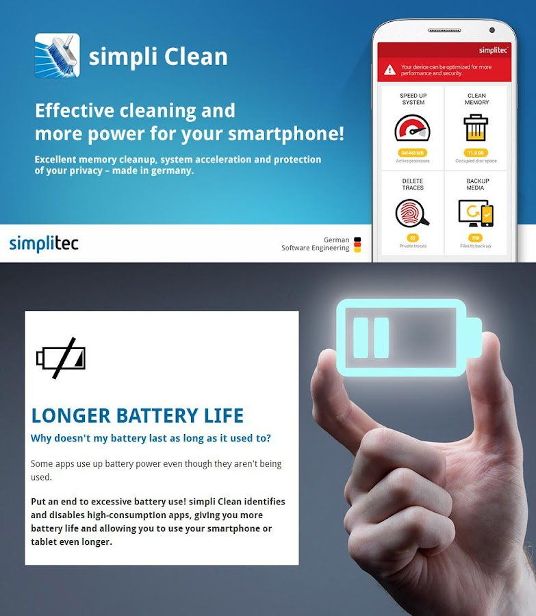 simpli Clean BOOSTER & CLEANER for ANDROID- screenshot