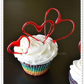Rainbow Cupcakes.