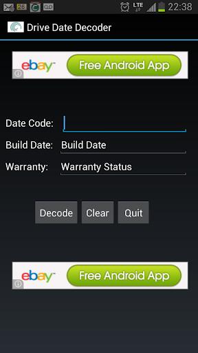 Seegate Drive Date Decoder