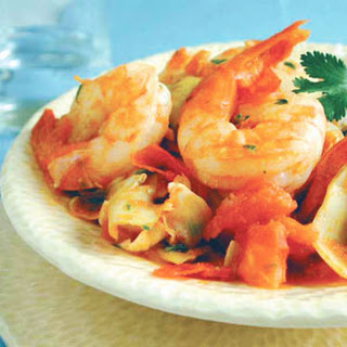 Scrumptious Shrimp with Artichokes.