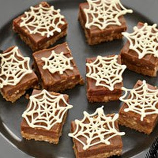 Chocolate Peanut Butter 'Spider Web' Slice