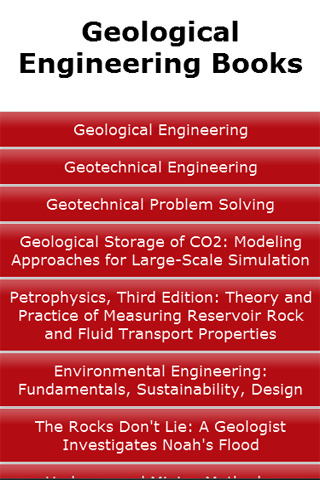 Geological Engineering Books