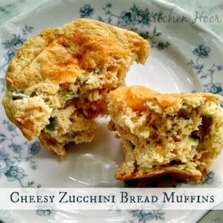 Cheesy Zucchini Bread Muffins