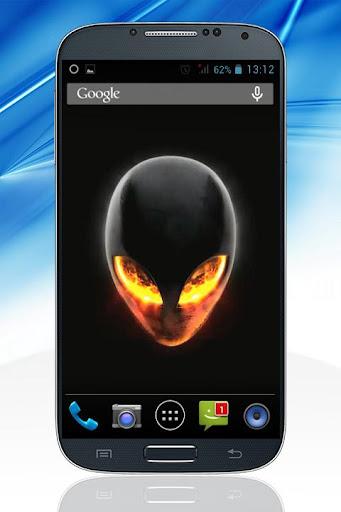 Alien Skull Fire LWallpaper