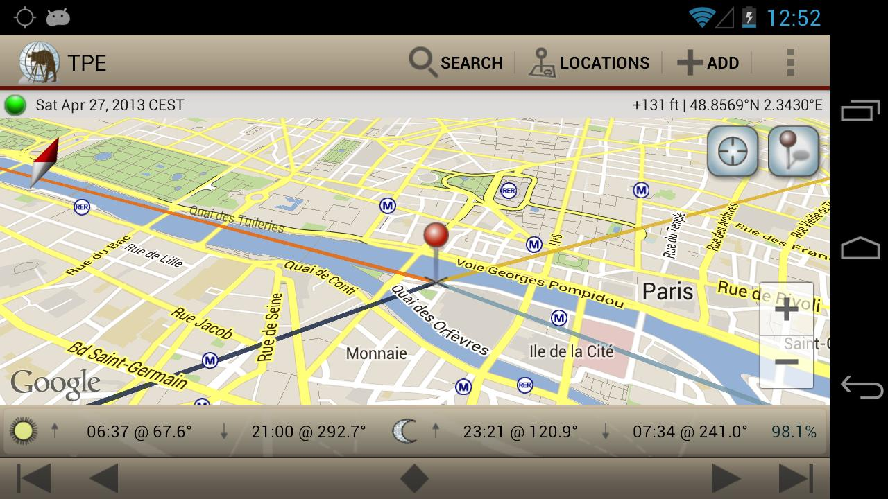 The Photographer's Ephemeris - screenshot