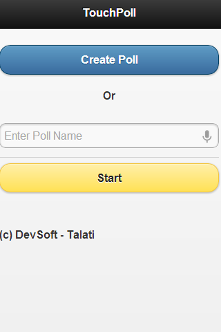 TouchPoll App