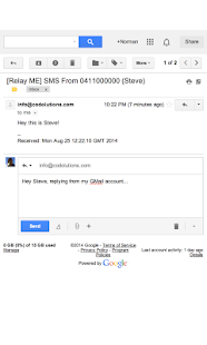 Relay ME, SMS via Email - screenshot thumbnail