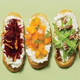 Spring Crostini (3 Ways) with Lemony Ricotta Spread.