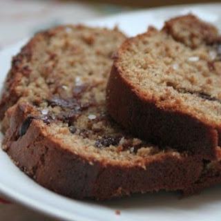 Chocolate Banana Almond Butter Bread (with Sea Salt!)