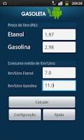 Screenshot of Gasoleta - Gasolina ou Etanol?
