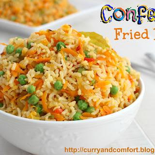 Confetti Fried Rice (Vegetarian).