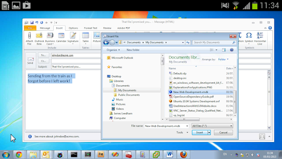 VNC Viewer- screenshot thumbnail