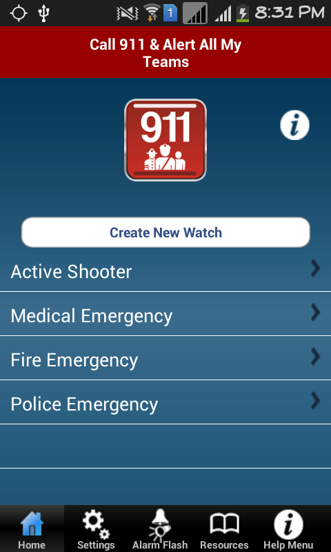 SafeWatch TEAM®- screenshot