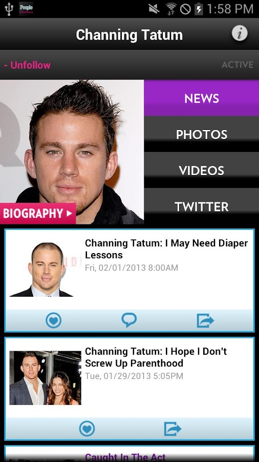 PEOPLE CelebWatch - screenshot