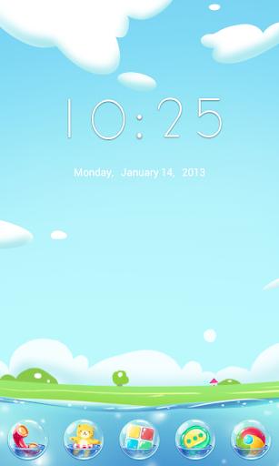 Bubble GO Launcher Theme