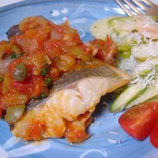 Sea Bass Cuban Style.