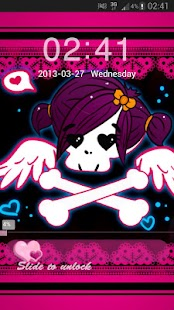 GO Locker Theme Pink Emo - screenshot thumbnail