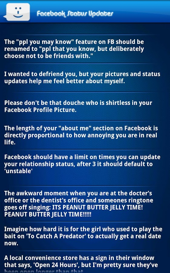 LOL Funny Status 4 Facebook - screenshot
