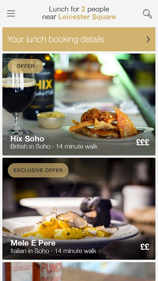 CityHawk - London Restaurants- screenshot