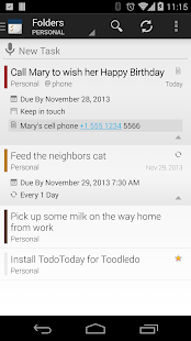 TodoToday for Toodledo - screenshot thumbnail