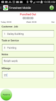 Screenshot of Employee Time Clock with GPS
