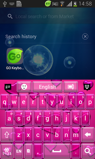 Go Keyboard Pink Love Free