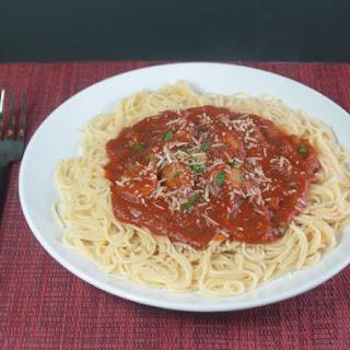 Italian Sausage Pasta Sauce with Spaghetti
