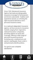 Screenshot of Westwood Insurance Agency App