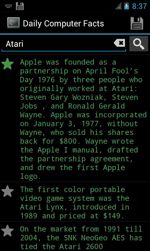 Amazing Computer Facts - screenshot