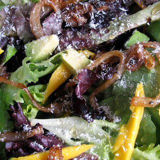 Tropical Spring Greens Salad.