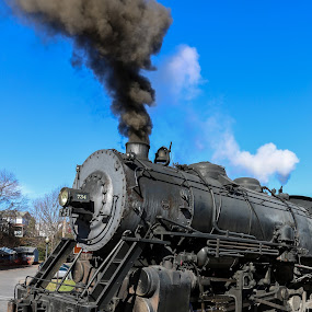 The Steam Engine by Sharon Horn - Transportation Trains ( steam engine, steam train, railroad, train )