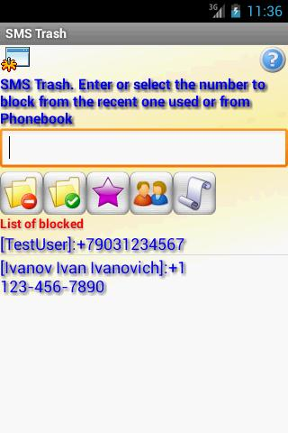 SMS Trash + Widget