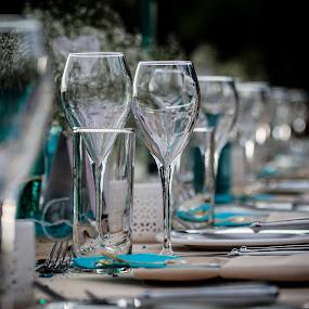 Dinner detail by Werner Booysen - Wedding Details ( dinner, wedding photography, wedding day, wedding, zambia, wine glass, glass, wedding details, werner booysen, Wedding, Weddings, Marriage,  )