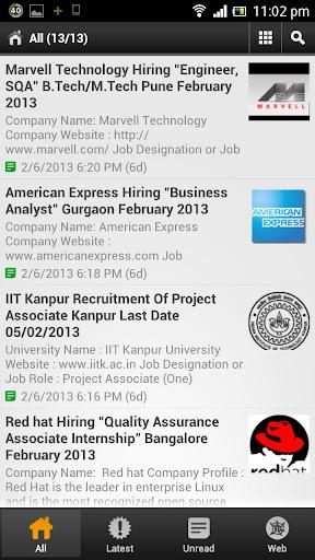 B.E. - B.Tech - Fresher Jobs