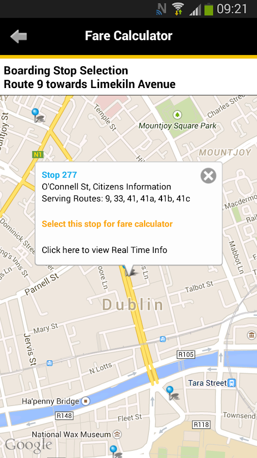 Dublin Bus- screenshot
