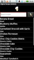 Screenshot of Digital Recipe Sidekick.