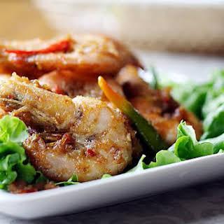 Satay Prawns (Prawns with Spicy Peanut Sauce).