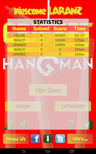 Hangman Intl' Cricket Players - screenshot thumbnail
